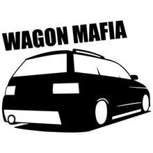 CK2387#15*20cm wagon mafia 2111 car sticker vinyl decal silver/black car auto stickers for car bumper window car decoration