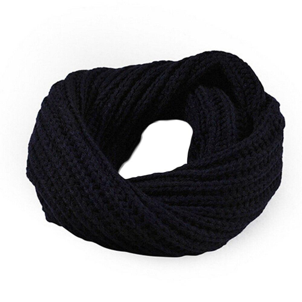 Wool SNOOD ROUND SCARF Neck Unisex Women Men Boy Girl Knit Wrap Shawl 3 color UK