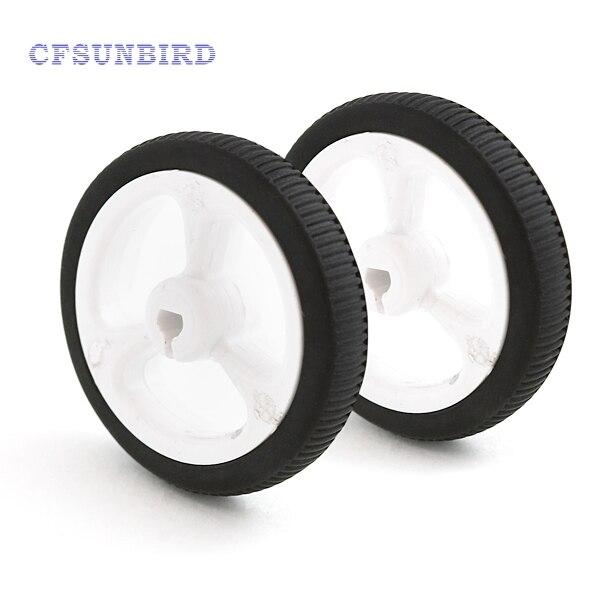 10pcs/lot D-hole Rubber Wheel Suitable for N20 Motor D Shaft Tire Car Robot DIY Toys Parts