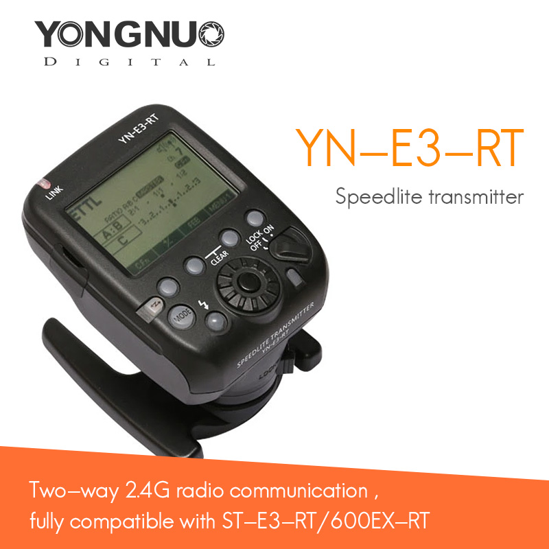 Yongnuo Speedlite Transmitter YN-E3-RT High speed Sync TTL Radio Trigger  as ST-E3-RT for Canon 600EX-RT YONGNUO YN600EX-RT yongnuo yn600ex rt ii 2 4g wireless hss 1 8000s master ttl flash speedlite or yn e3 rt controller for canon 5d3 5d2 7d 6d 70d