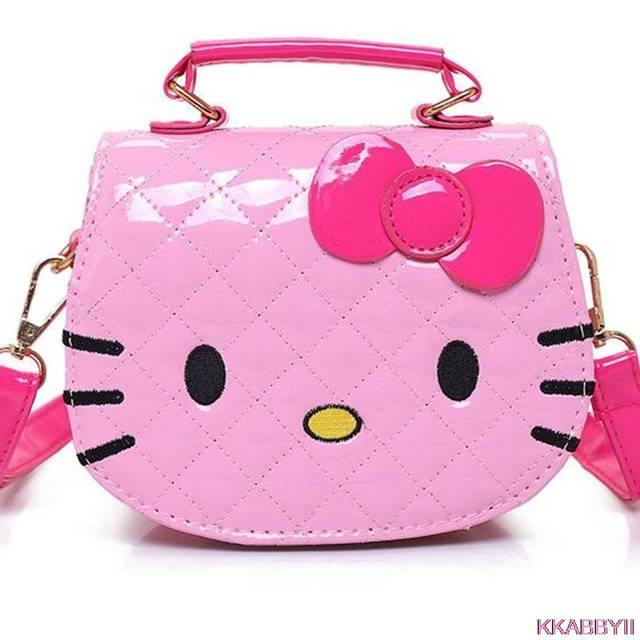 067b6bb6bd placeholder Hot new arrival Hello Kitty girl s princess Sequins bag wallet  purse portable messenger children handbag