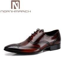 6cb3d1e65 Northmarch الرجال اللباس أحذية الزفاف جلد طبيعي أسود رسمي الذكور أكسفورد  الإيطالية الرجال الكلاسيكية الأحذية sapato