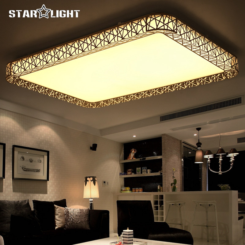 Rectangle Hollow Indoor Ceiling light Home  Modern Led Ceiling Lamp Fixtures For Living Room Bedroom luminarias para teto modern multicolour crystal ceiling lights for living room luminarias led crystal ceiling lamp fixtures for bedroom e14 lighting