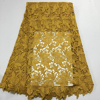 New Designs Swiss France Lace Fabric Fashion Gold Mesh Lace Cotton High Quality African Lace Fabric