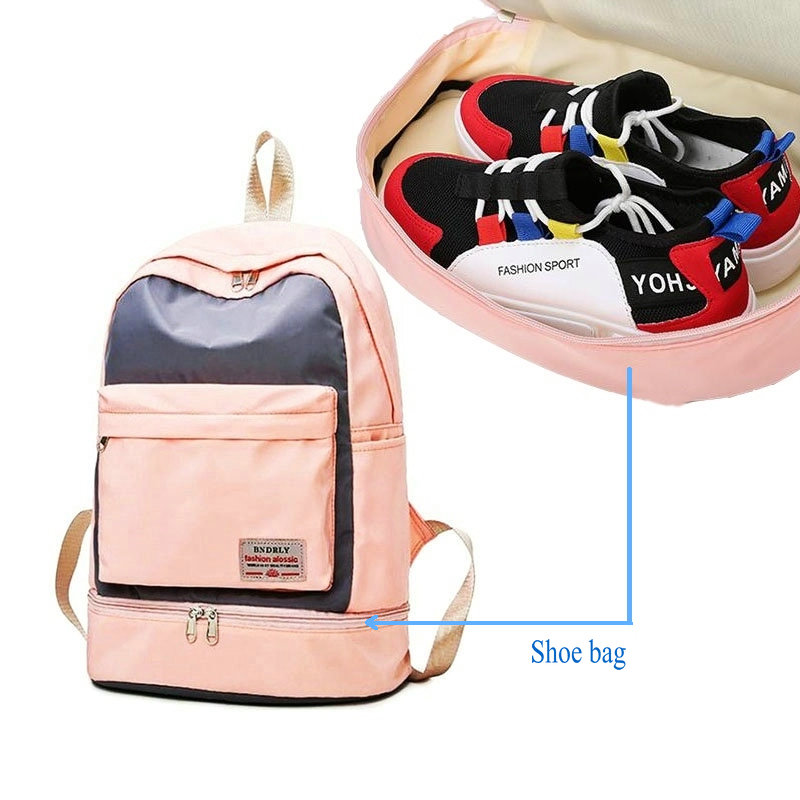 Outdoor Bags Women Sports Backpack Men Luggage Travel Bag With Shoe Compartment Waterproof Hiking Backpacks Teenger School Bags