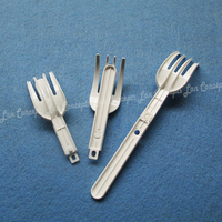 Folding Plastic Forks HDPE Fork for noodle food - 200pcs/lot free shipping