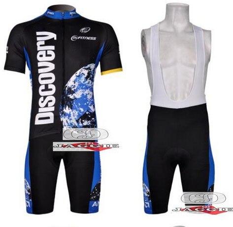 Prix pour 3D silicone! 2007 decouvertes équipe cyclisme jersey et cuissard / manches courtes maillots pantalons vélo vélos porter des vêtements fixés