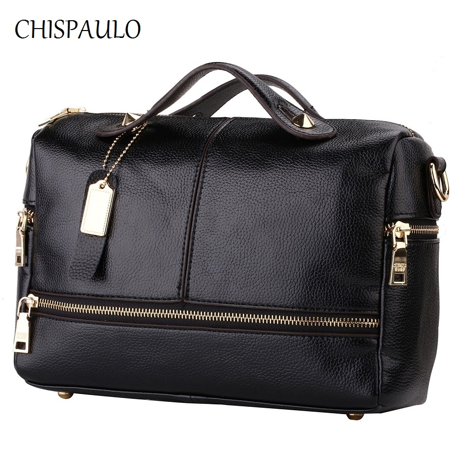 CHISPAULO Women Bags 2017 Brand Designer Handbags High Quality Women Genuine Leather handbags Women Messenger Crossbody