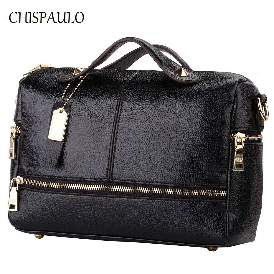CHISPAULO Women Bags 2017 Brand Designer Handbags High Quality Women Genuine Lea