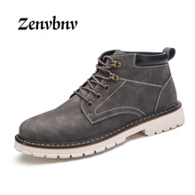 ZENVBNV Brand Autumn Winter Classic Style Men's Desert Boots High Top Handmade Round Toe Men Ankle Comfortable Boots Size 39~44