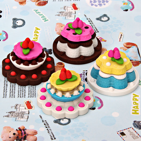Creative Beautiful Birthday Cake Model Eraser For Your Beloved Kids