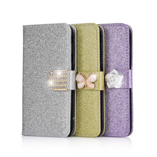 ZOKTEEC New Fashion Bling Diamond Glitter For Xiaomi Redmi 4A Flip Case Cover PU Back Leather phone cases