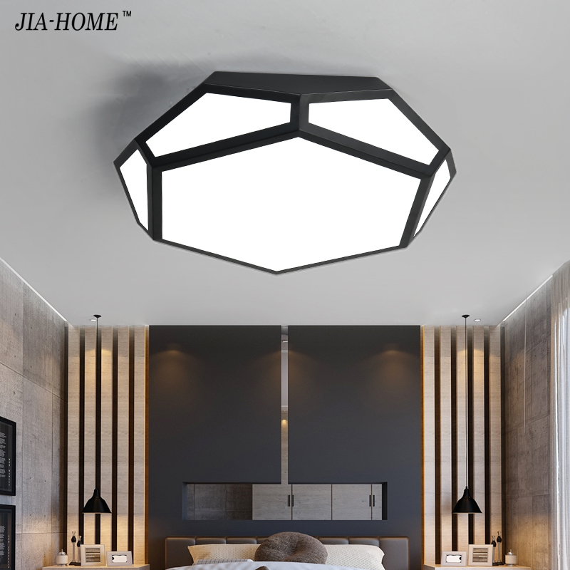 Dimmer Led light ceiling for dining room or switch controller dome indoor lighting led luminaria abajur modern with black boby