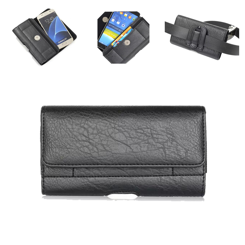 Universal Vintage cinturón Clip teléfono bolsa para Xiaomi Redmi 4 4A 4X Mi8 5 más Nota 5 Pro 5X S2 caso bolso de la cintura 4,7-6,3 pulgadas
