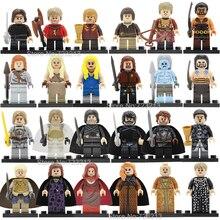 Game Of Thrones Single Sale Figure Khai Drago Daenerys White Walker Jaime Ice And Fire Building Block Model Toys