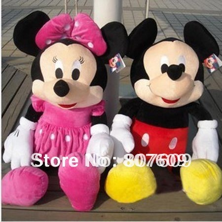 1pair/lot  Mickey Mouse mickey Minnie doll  plush toys Christmas gift the birthday gift  hot  sale Stuffed & Plush