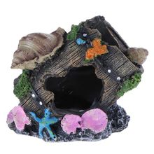 Aquarium Decoration Fish Tank Decoration Ornament Imitation Moss Tree Branch Fish House Shrimp Nest Resin Cave Aquarium Decor(China)