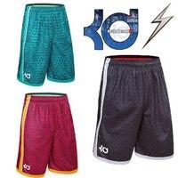 NEW 2016 Brand Athletic KD Gym Shorts Sport Running Knee Length Elastic Loose Pocket Basketball Shorts