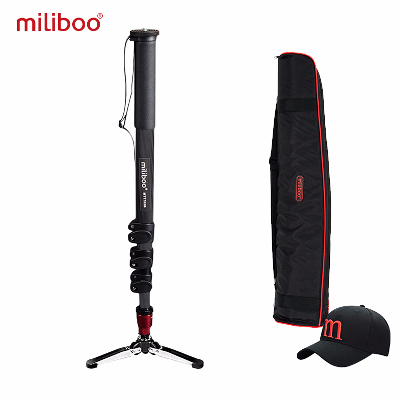 miliboo MTT705B Portable Carbon Fiber Monopod for Professional DSLR/ Camera/ VideoCamcorder Tripod Stand Half price of manfrottomiliboo MTT705B Portable Carbon Fiber Monopod for Professional DSLR/ Camera/ VideoCamcorder Tripod Stand Half price of manfrotto