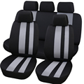 Full Car Seat Cover Universal Fit Most Car Seat Polyester Fabric Interior Accessories Seat Covers 11PCS B Car Style