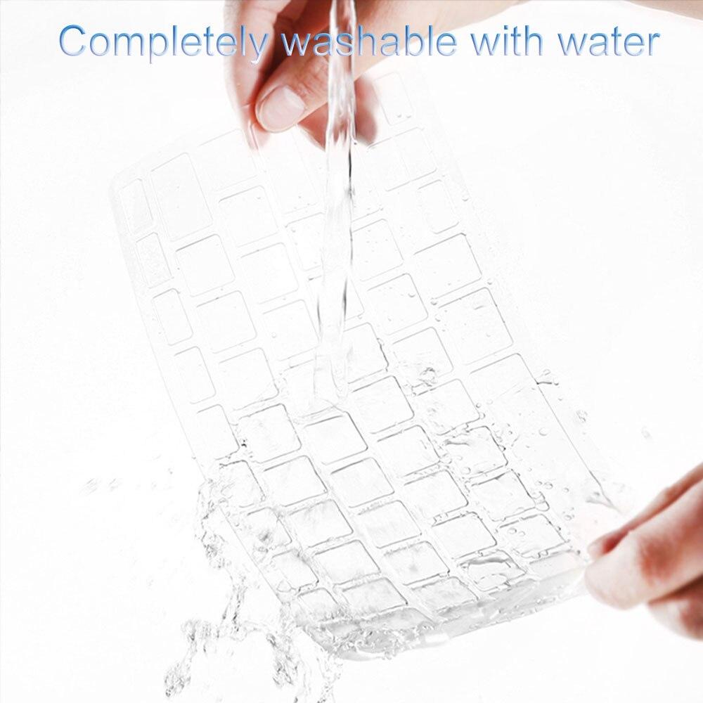 Wiwu capa de teclado transparente para macbook pro 13 a1706 à prova dwaterproof água eua layout capa de teclado portátil para macbook 11 12 13 15 Polegada