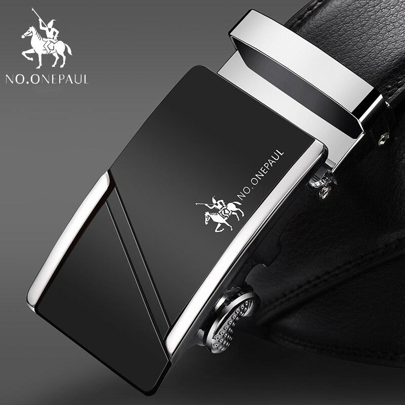 Não. onepaul para homens de negócios designer cintos homens alta qualidade cinta cinto automático cinto de couro genuíno zdc09