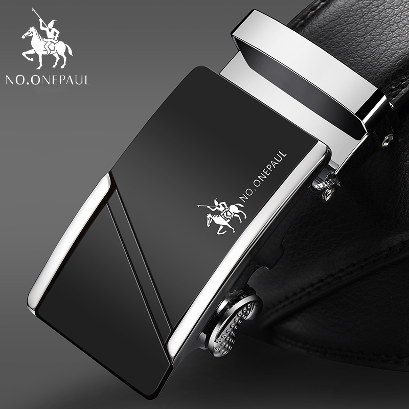 NO.ONEPAUL For Men Business Designer Belts Men High Quality Strap Cinto Automatic Belt Cowhide Genuine Leather Belts ZDC09