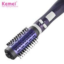 Kemei отрицательных ионов Электрические волосы удар бигуди расческа Электрический салон Инструменты для укладки вьющиеся расческа ролик гребень автоматический поворот