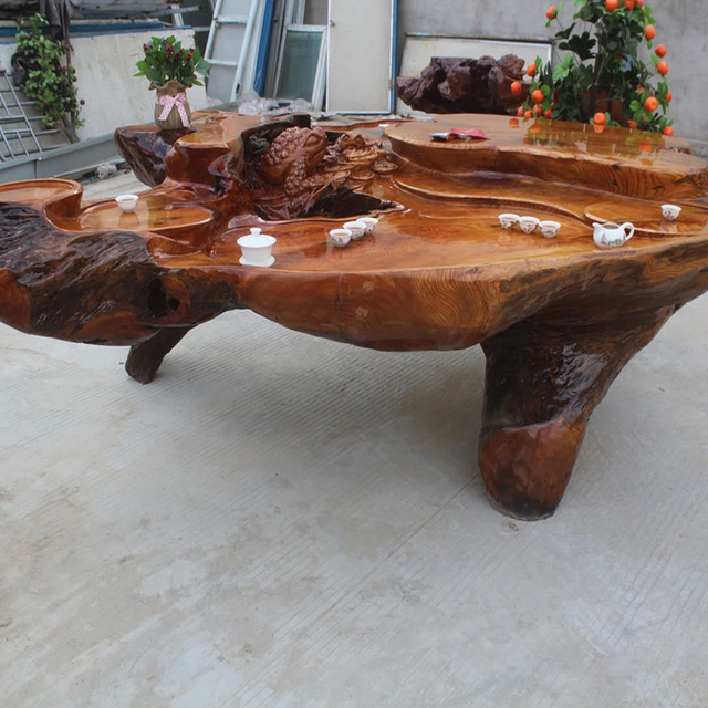 a47ebabc56a84 Root coffee table wenge gold Phoebe overall root tea balcony camphor wood  tray Specials teasideend