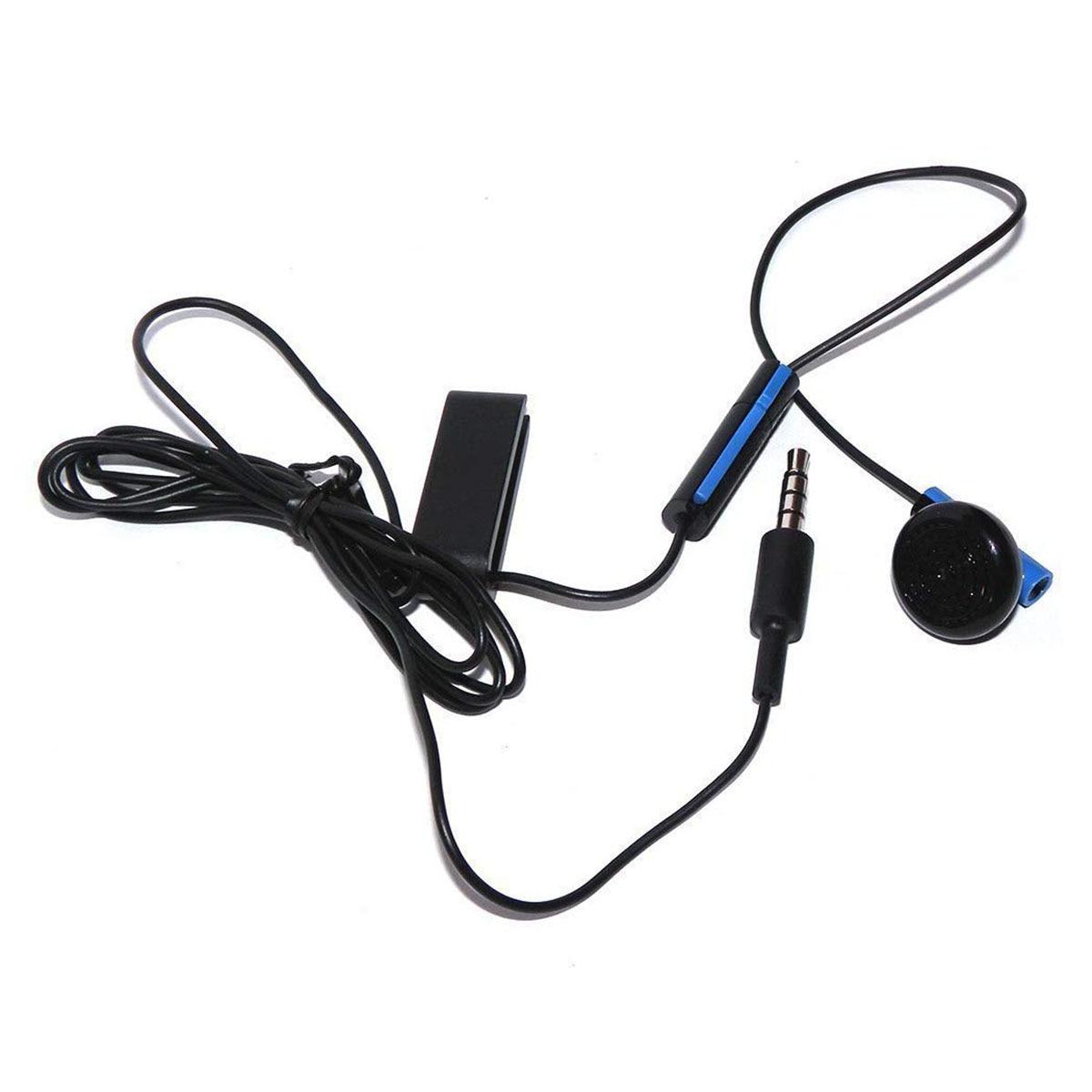 Headset Earbud Microphone Earpiece For PS4 Controller Headphones