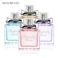 MayCreate Women Perfume Fresh Elegant Lasting Flower Fragrance Parfum Makeup Female Perfume Women Spray Glass Bottle