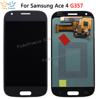 White/Grey SUPER AMOLED LCD for Samsung Galaxy Ace 4 SM G357 G357 G357FZ Ace4 LCD Display with Touch Screen Digitizer Assembly