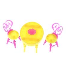 1 Juego de sillas de mesa Vintage para muñecas, conjuntos de muebles de comedor, juguetes para niña para niño o bebé