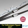 """Limpiaparabrisas cuchillas para volkswagen tiguan (desde 2007 en adelante) 24 """"21"""" en forma de botón tipo wiper armas sólo hy-011"""