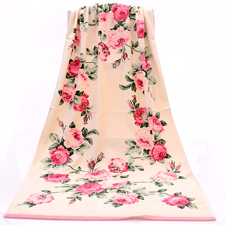 Terry Bath Towels Picture More Detailed Picture About 35 75 70 135cm Floral Pattern Cotton