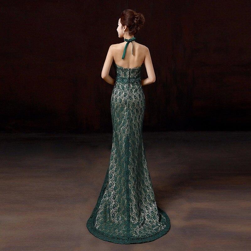 Tamno zelena seksi bez naramenica ular rhinestone rep čipke silm - Nacionalna odjeća - Foto 2