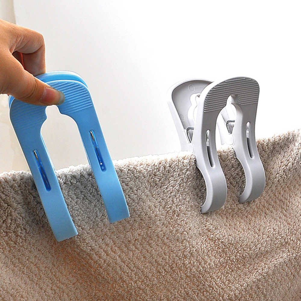 1 個大型洗濯ばさみの強力な洗濯クリッププラスチックコートタオルキルト防風服ペグ家庭用洗濯乾燥ツール