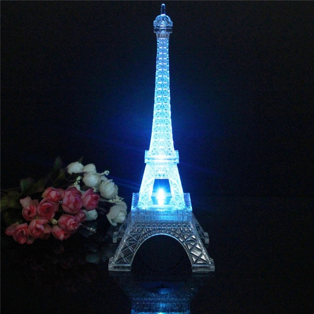 Beautiful Design Eiffel Tower LED Night Light Desk Baby Table Lamp Wedding  Bedroom Decorate Child Gift
