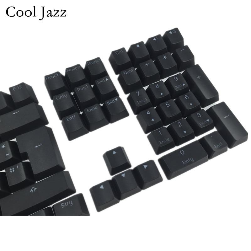 Image 3 - Cool Jazz  Double shot Black White Thick PBT DE ISO layout 108  backlit Keycaps OEM Profile Keycap For MX Mechanical Keyboardbacklit  keycapskeycaps backlitkeycaps for mechanical keyboard