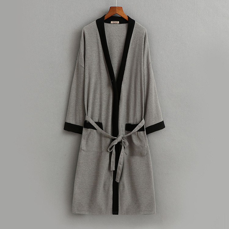 e24ba33d15 2019 2018 Autumn Brand Pajamas Robe Men 100% Cotton Robes Men S Long ...