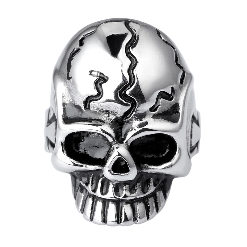 Heyrock Mens Finger Ring 316L Stainless Steel High Polishing Punk Gothic Viking Skull Cheap Halloween Gifts In Rings From Jewelry Accessories On