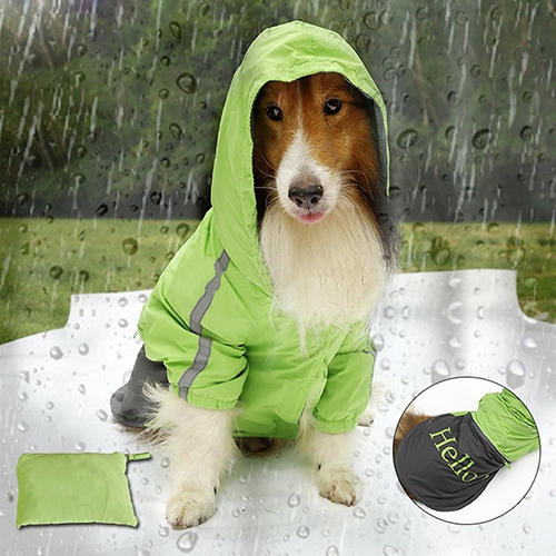 Big Pet Dog Fashion Waterproof Waistcoat Jacket Raincoat Clothes Rain Slicker Store 48