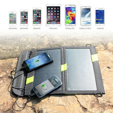 14W high Efficiency Foldable Sunpower Solar Panel Charger Dual Output Solar Power Bank Camping Charger for Cell Phone
