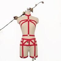 2017 אופנה חדשה פסטל גותיקה גותי הלבשה תחתונה סט חזיית נשים סקסית שעבוד חליפת חזה אלסטי הקמעונאי חגורת בירית התאמה