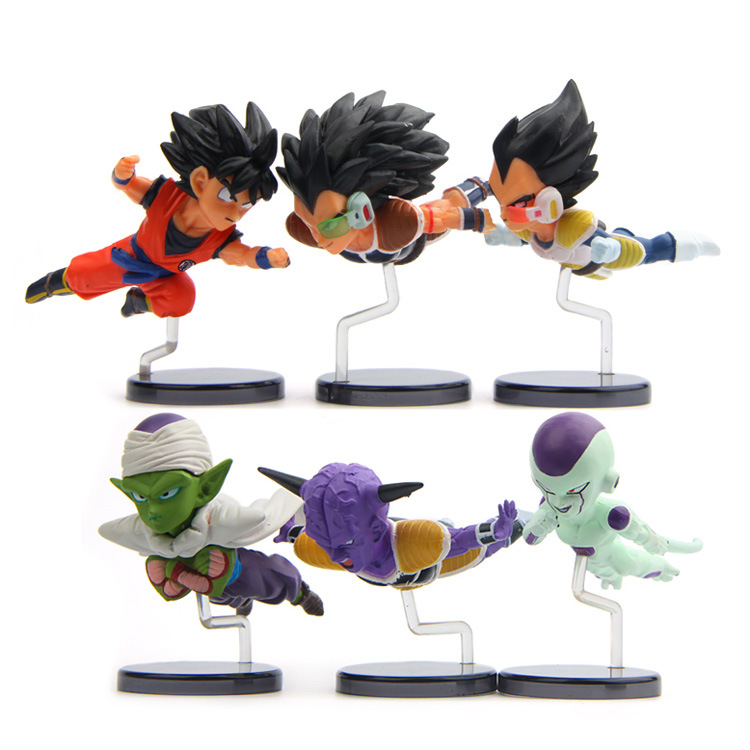 6pcs/lot Hot Sale <font><b>Action</b></font> <font><b>Figures</b></font> Toys <font><b>Dolls</b></font> Flying <font><b>Dragon</b></font> <font><b>ball</b></font> Z Super Japan Anime Cartoon Toys Models Desk Toys <font><b>Cute</b></font> <font><b>Dolls</b></font>