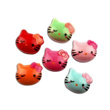 50Pcs Mixed Resin Cats Decoration Crafts Beads Flatback Cabochon Scrapbooking For Embellishments Kawaii Diy Accessories(China)