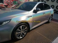 Premium Rainbow Chrome Vinyl Silver Gloss Prisma Vinyl Car Body Wrap Film Air Bubble Free For