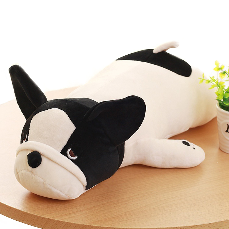 1PC 50/65/<font><b>85cm</b></font> Super Soft French Bulldog Plush Toys Stuffed Down Cotton Cute Lying Dog <font><b>Doll</b></font> Pillows Cushions Kids Girls Gifts image
