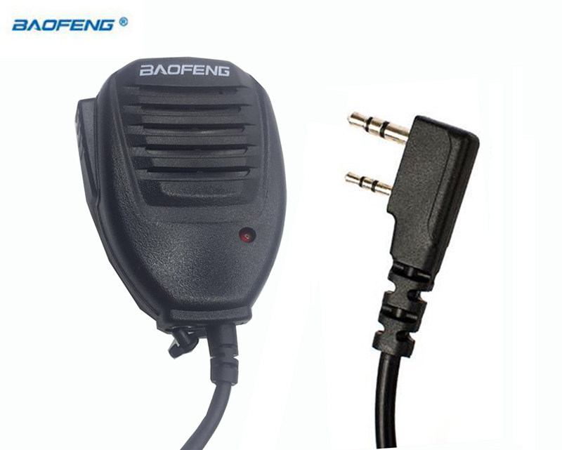 Walkie Talkie Baofeng hand Speaker MIC ppt For Kenwood TYT Handheld UV5r UV-82 Bf 888s plus UV-5R UV-6R Accessories Microphone