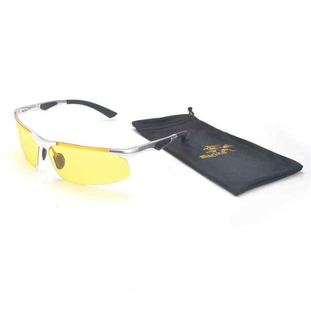 27f6f986a9 MINCL  Super Light Aluminum Magnesium Polarized Sunglasses Men Semi-Rimless  Rectangle Mens Sun Glasses Night Vision Goggles FML